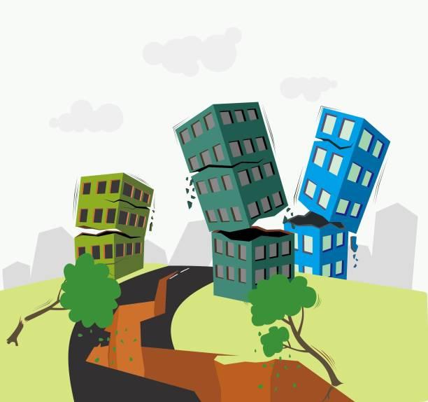erdbeben-vektor-illustration - lombok stock-grafiken, -clipart, -cartoons und -symbole