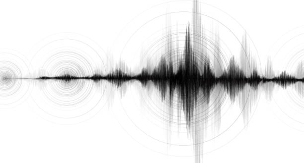 Earthquake Wave Low and High richter scale with Circle Vibration on White paper background,audio wave diagram concept,design for education and science,Vector Illustration. Earthquake Wave Low and high richter scale with Circle Vibration on White paper background,audio wave diagram concept,design for education and science,Vector Illustration. earthquake stock illustrations