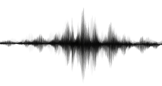 Earthquake Wave Low and Hight richter scale or sound wave on White paper background,audio wave diagram concept,design for education and science,Vector Illustration.