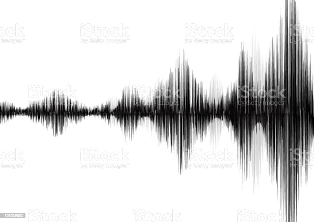 Erdbebenwelle Auf Weißem Papierhintergrund Audio Wavediagrammkonzept ...