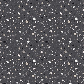 Abstract Terrazzo design in earthy neutral colors