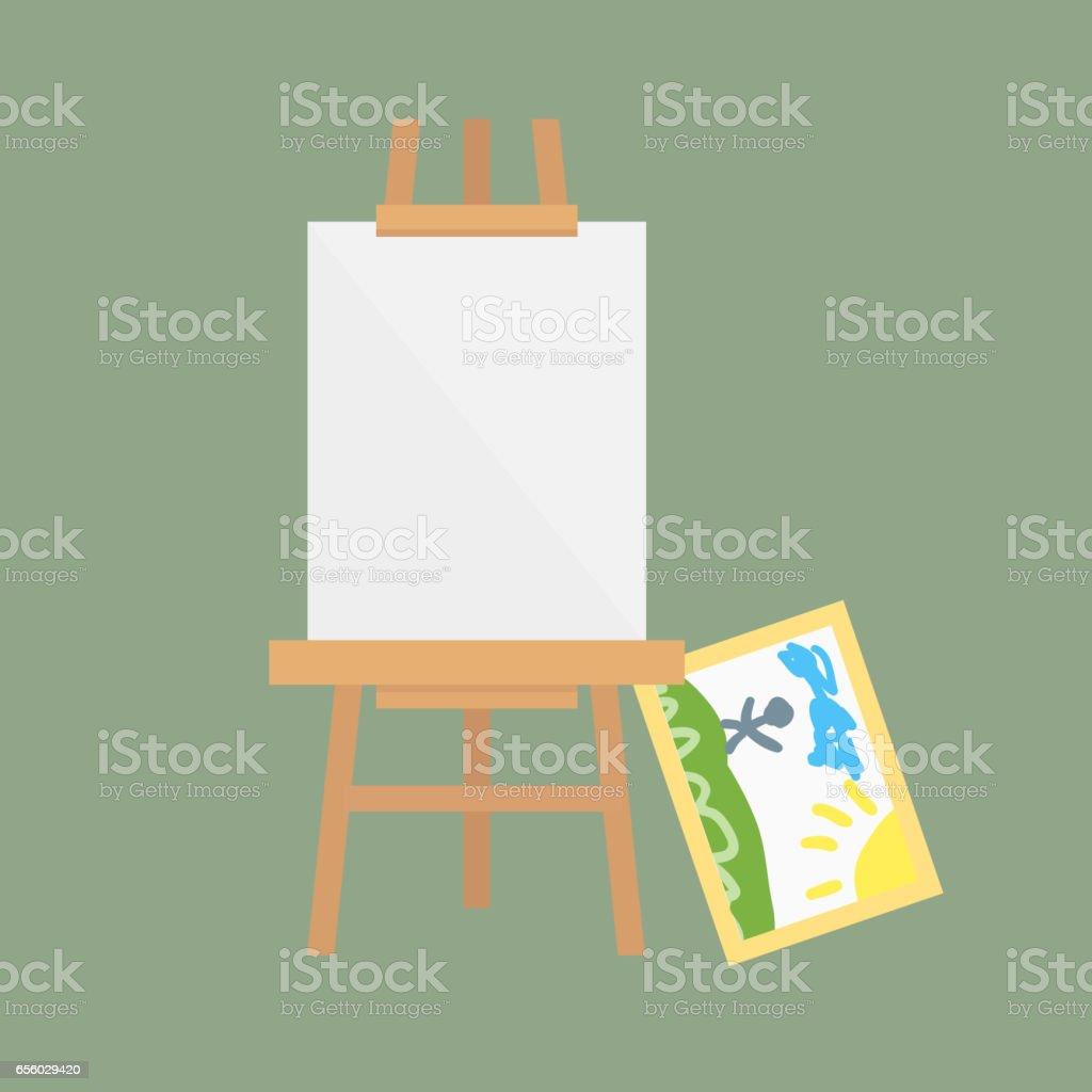 Staffelei Kunst Board Vektor Isoliert Für Einige Künstler Mit Farbe ...