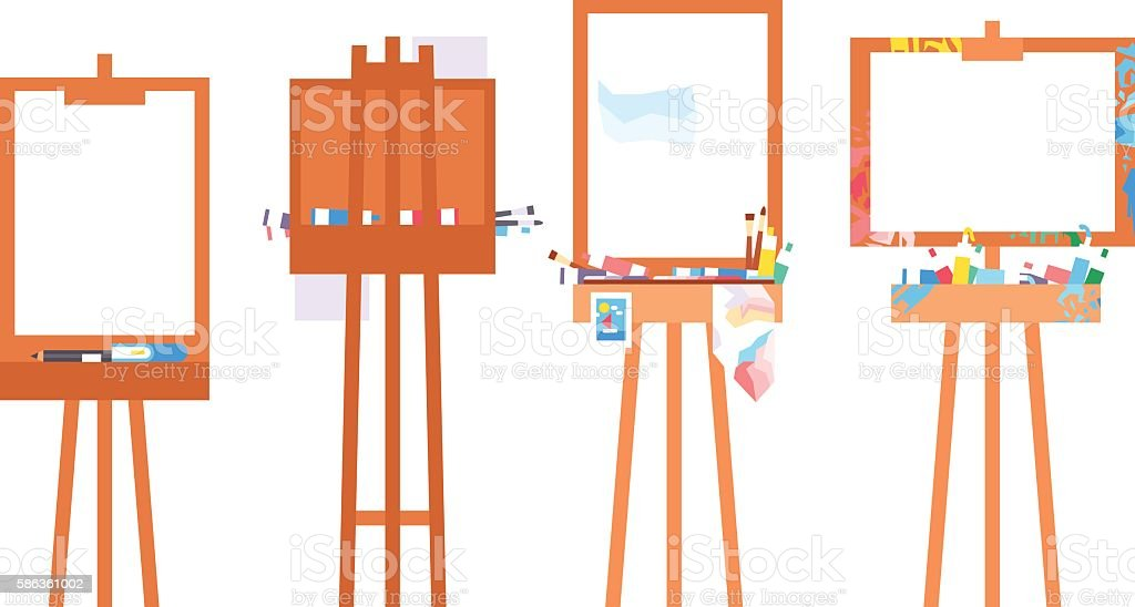 Easel art board vector vector art illustration