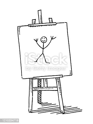istock Easel Child Sketch Artwork Drawing 1210334719