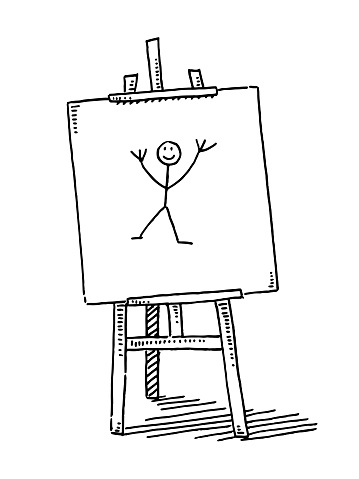 Easel Child Sketch Artwork Drawing