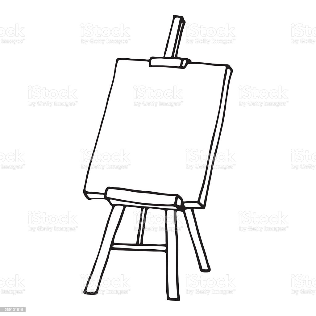 Photo To Line Art Converter Online : Easel icon outlined stock vector art more images of