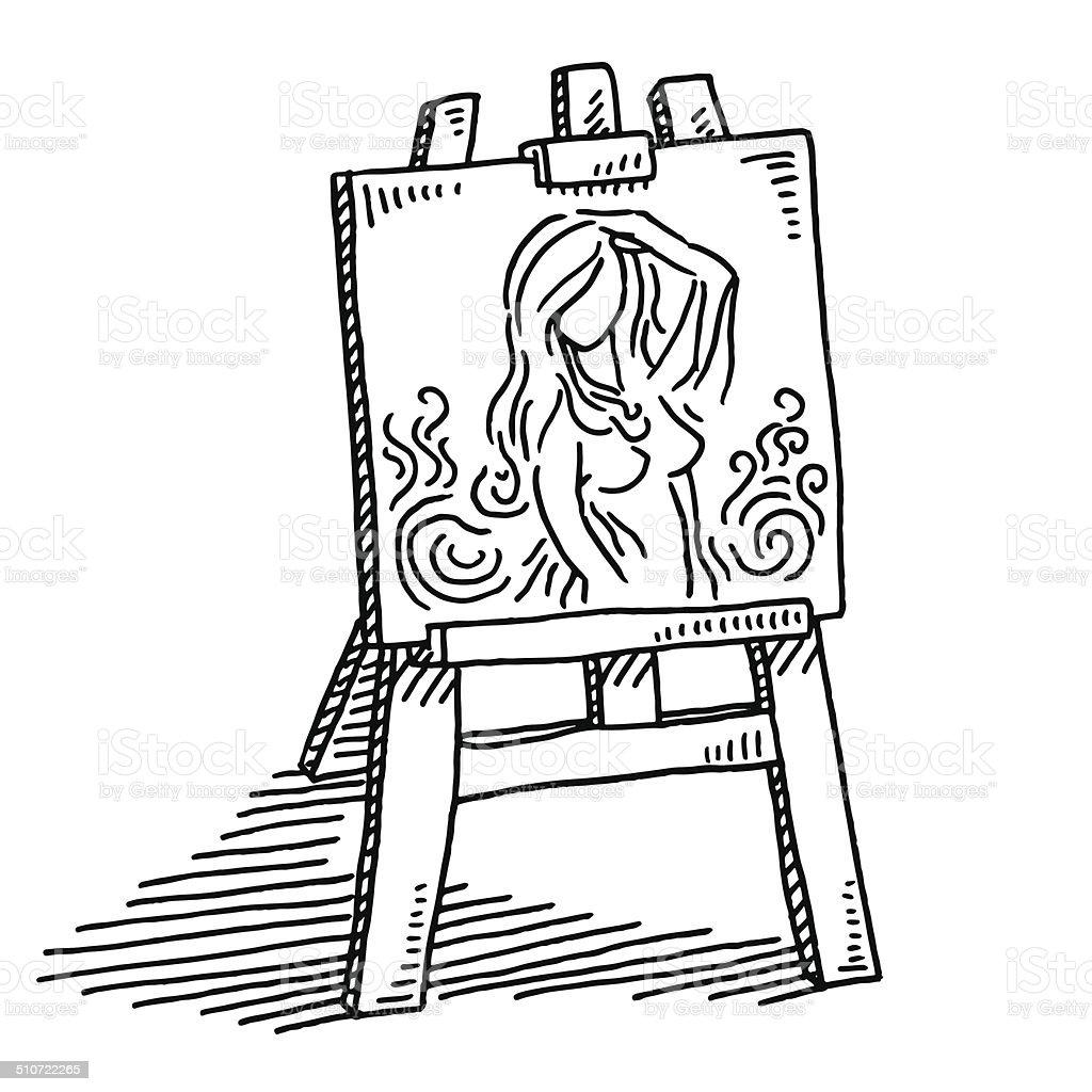 Modello di pittura nuda