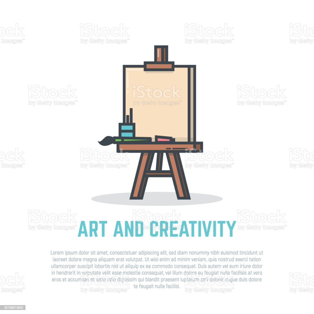 Easel vector art illustration
