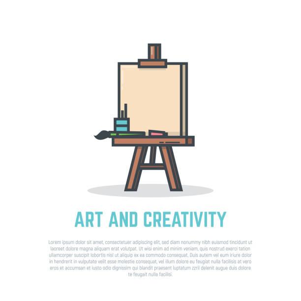 Easel vector art illustration