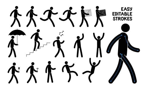 Bекторная иллюстрация Easily editable pictogram man