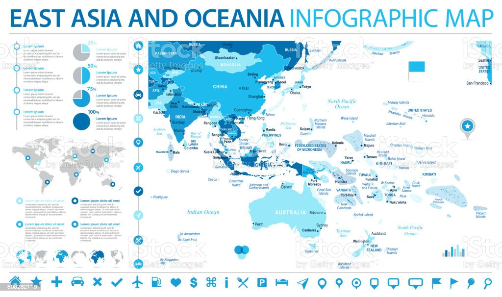 East asia and oceania map info graphic vector illustration stock east asia and oceania map info graphic vector illustration royalty free stock vector art gumiabroncs Image collections