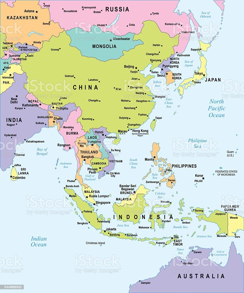 Image of: East Asia Map Illustration Stock Illustration Download Image Now Istock