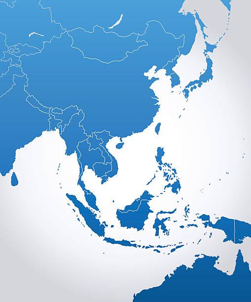 東アジアのマップ - アジア地図点のイラスト素材/クリップアート素材/マンガ素材/アイコン素材