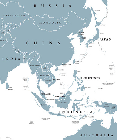 East Asia political map