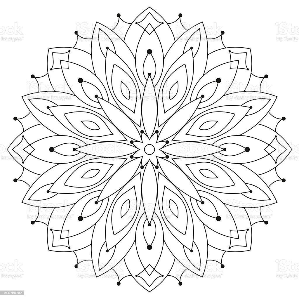 East этнических круглые Mandala раскраска для взрослых