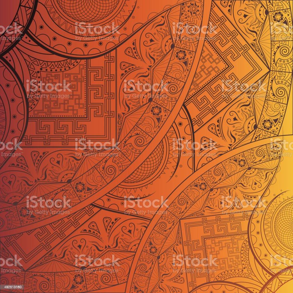 East ornament. Mandala. vector art illustration