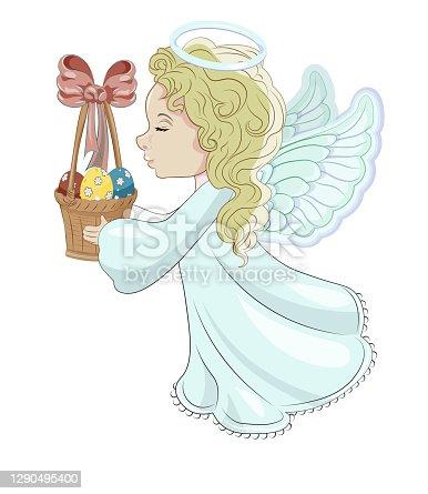 Easter angel with egg basket