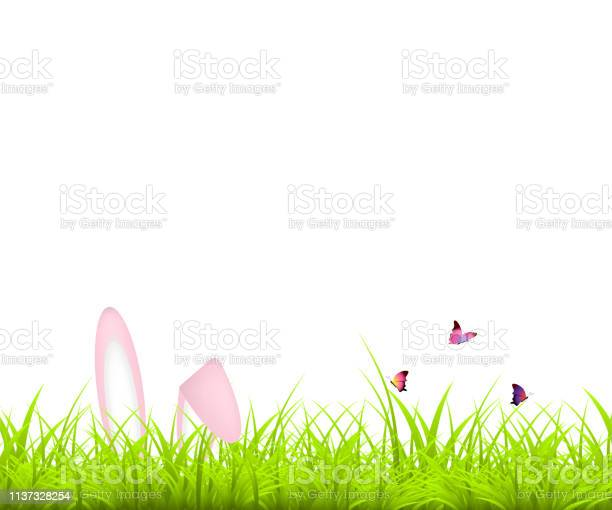 Easter background green grass and easter egg and bunny butterfly vector id1137328254?b=1&k=6&m=1137328254&s=612x612&h=cmbetf2effgftnklnws5wd2e2wohdsopz9pnrzc2f3w=
