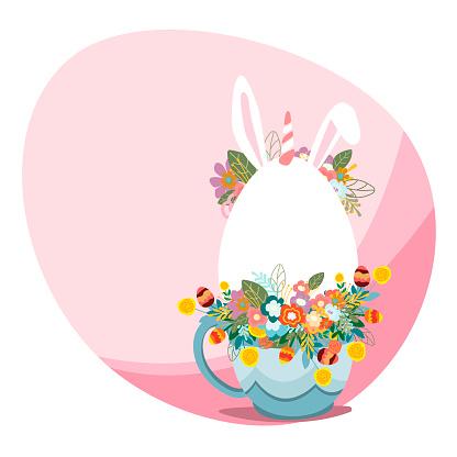 Easter background postcard