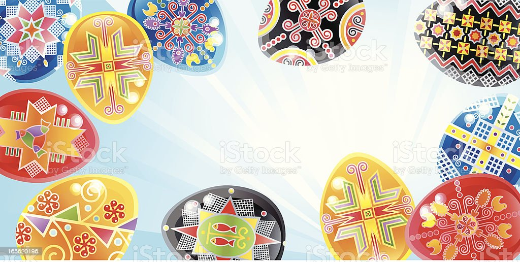Easter Background vector art illustration