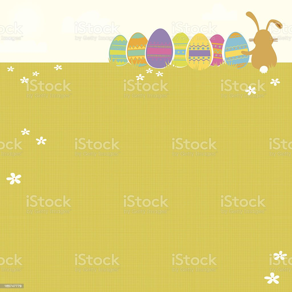 Easter Background - Royalty-free Animal Back stock vector