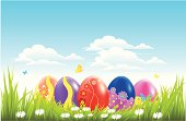 vector file of Easter background