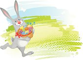 Easter background with rabbit and space for your text. EPS 10 file contains transparencies.