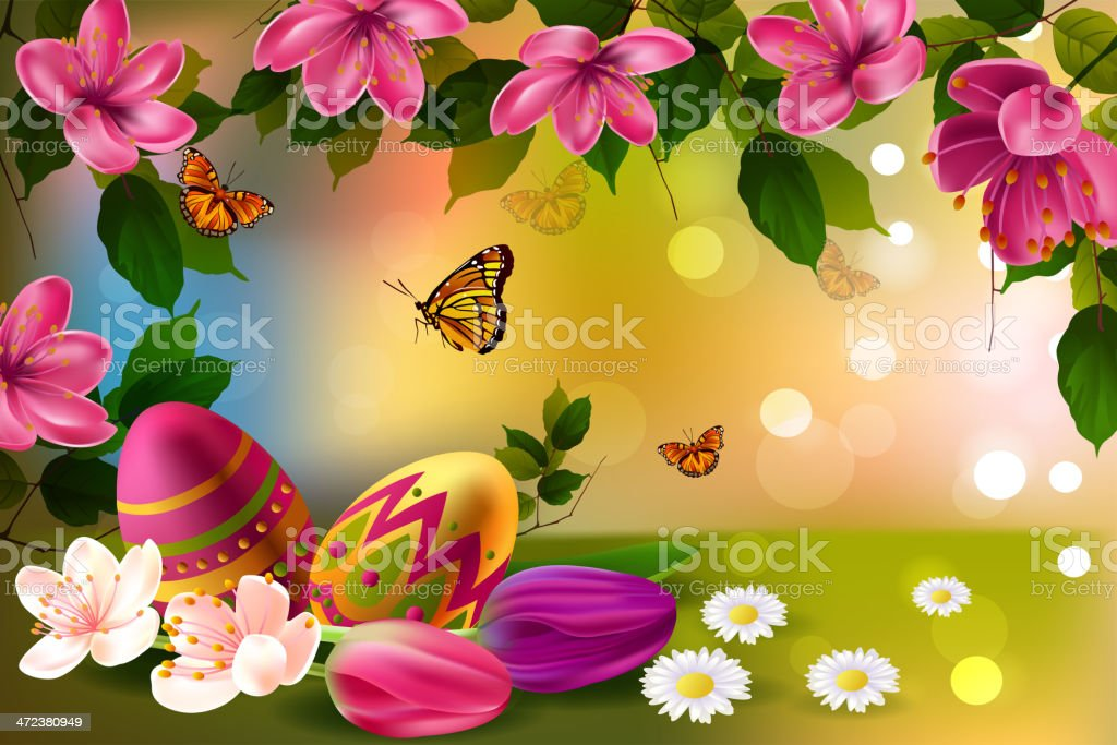 Easter Background royalty-free easter background stock vector art & more images of beauty in nature