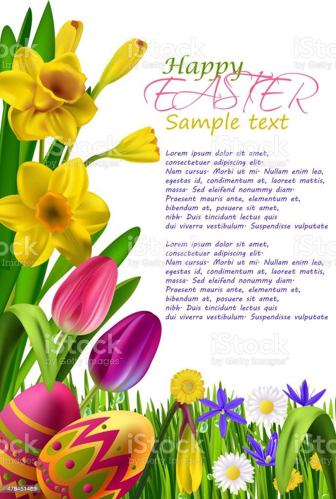 Easter Background vector art illustration