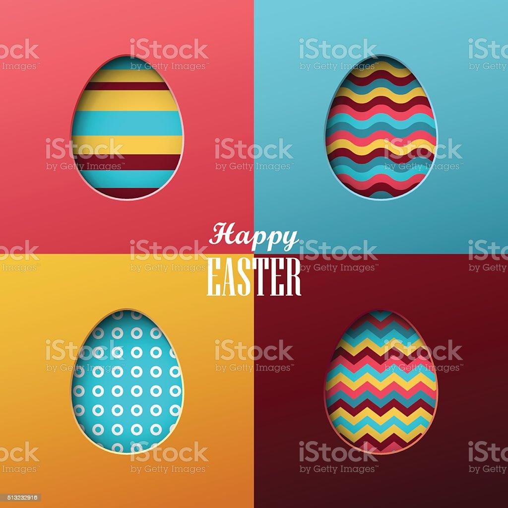 Fond de Pâques - Illustration vectorielle