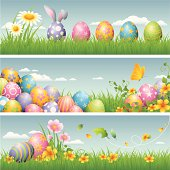 - set of banners for easter