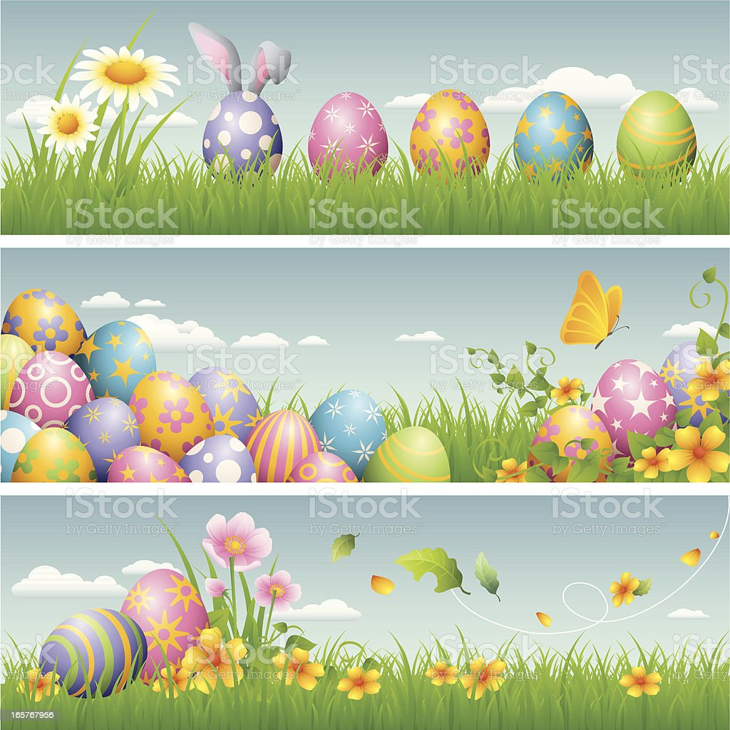Easter banner vector art illustration