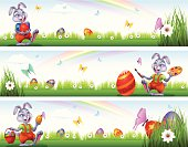 Easter Banners. High Resolution JPG,CS5 AI and Illustrator 0.8 EPS included.