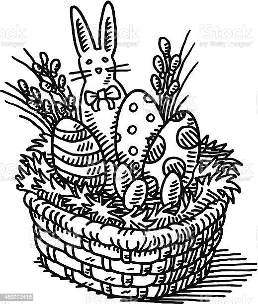Easter basket drawing vector id459223415?b=1&k=6&m=459223415&s=612x612&h=11or0butfy1iowziiw0ndtnl cdv40udddesucvfo3w=