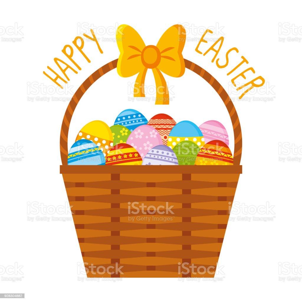 Easter basket eggs stock vector art more images of april 928304882 easter basket eggs royalty free easter basket eggs stock vector art amp more images negle Images