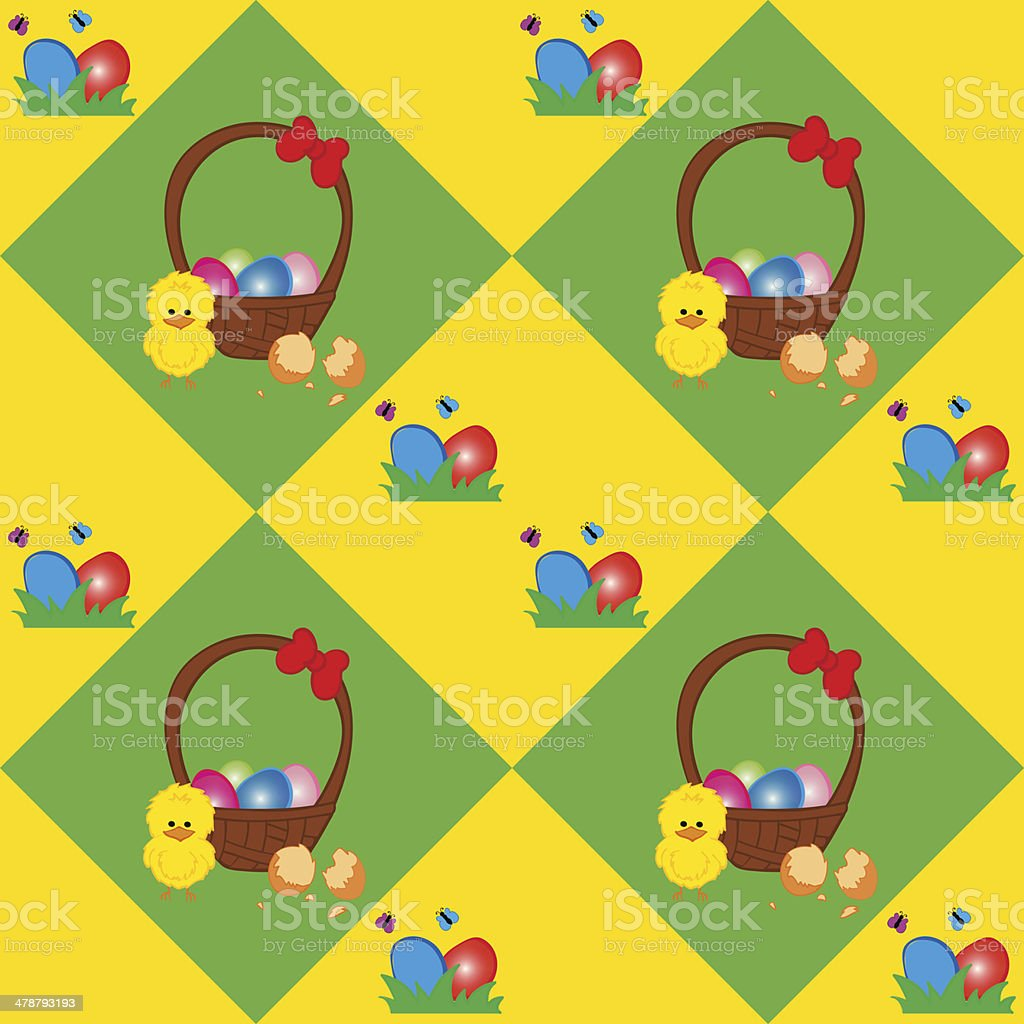 Easter Basket Texture royalty-free stock vector art