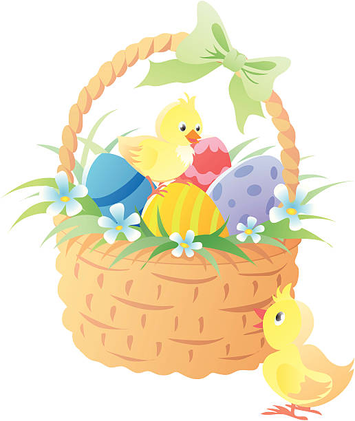 Easter Basket Illustrations, Royalty-Free Vector Graphics ...
