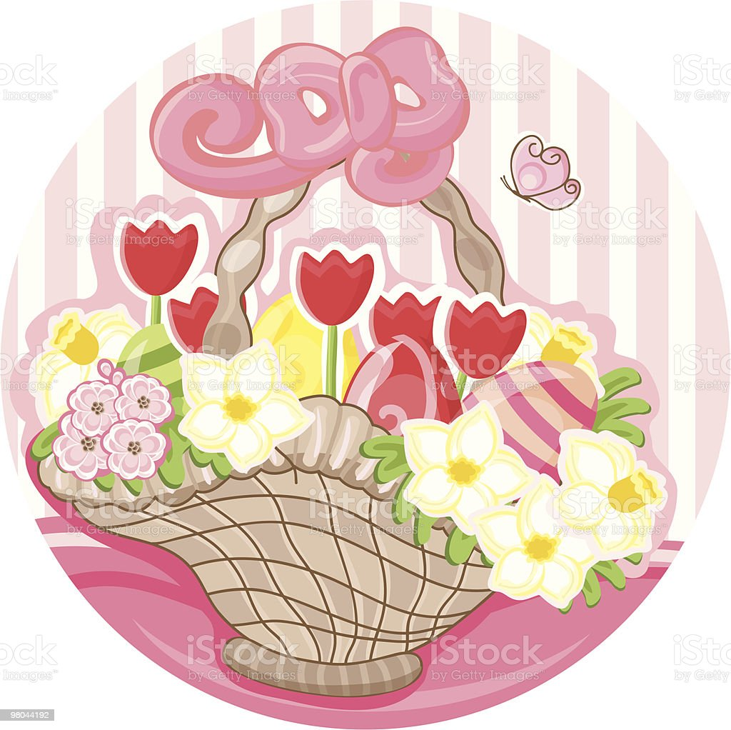easter basket royalty-free easter basket stock vector art & more images of basket