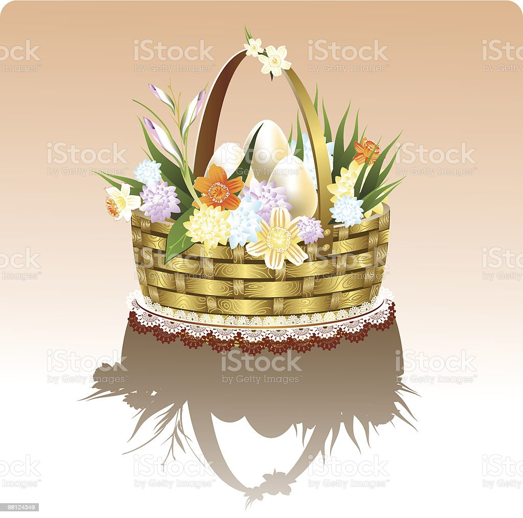 easter basket royalty-free easter basket stock vector art & more images of animal egg