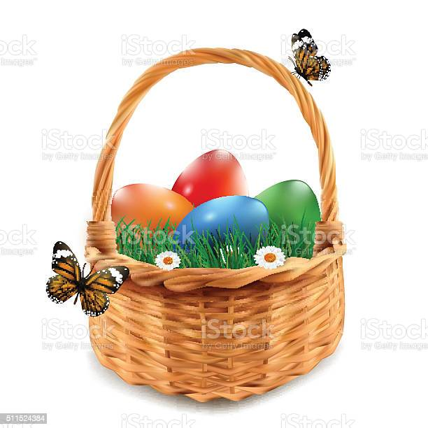Easter basket with colorful easter eggs isolated in white vector id511524384?b=1&k=6&m=511524384&s=612x612&h=r3otmoztqgd5sg8camm  bxdbqrczen6p5 nzyastry=