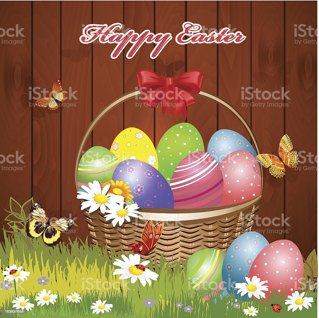 Easter basket with eggs royalty-free easter basket with eggs stock vector art & more images of abstract