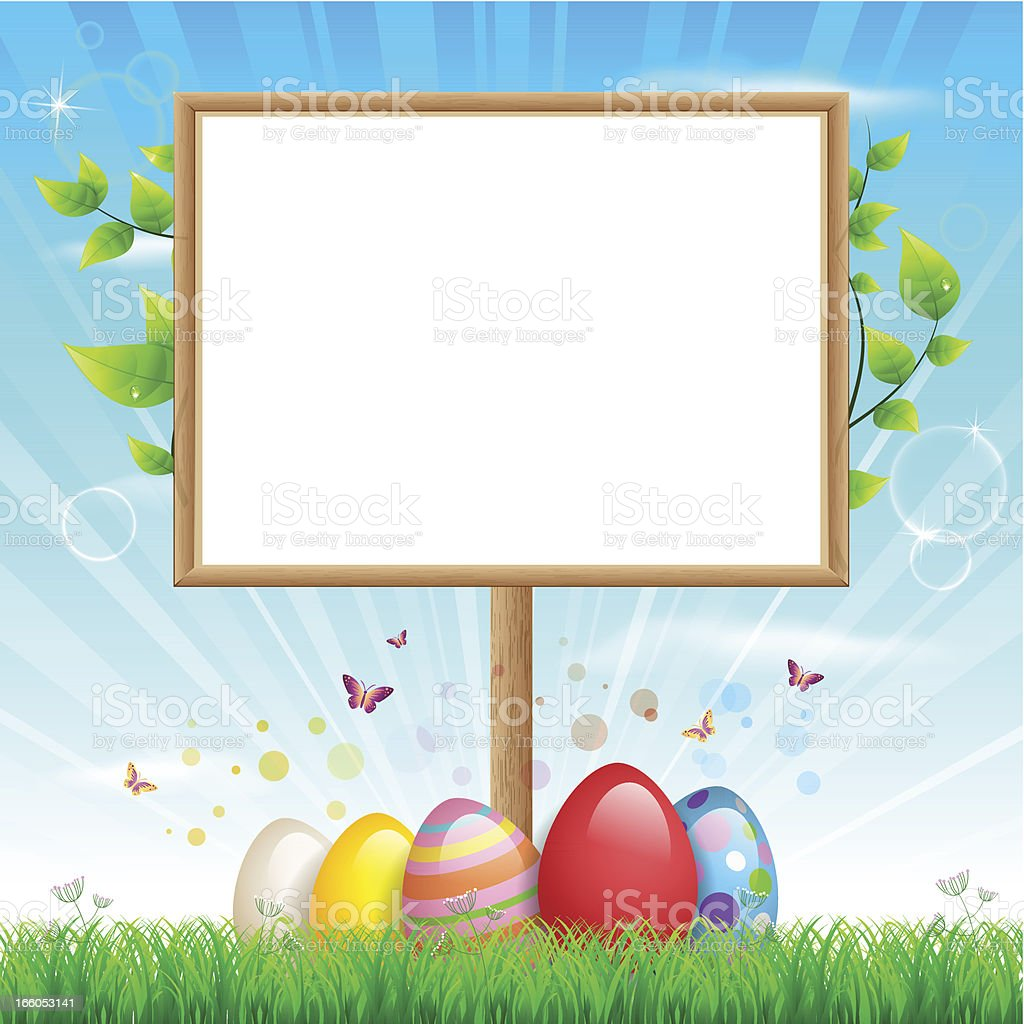 Easter blank sign royalty-free easter blank sign stock vector art & more images of animal egg