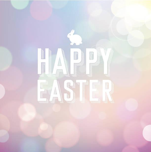 Easter Bokeh Background vector art illustration