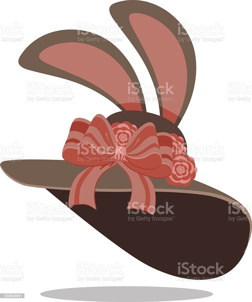 Easter bonnet vector art illustration