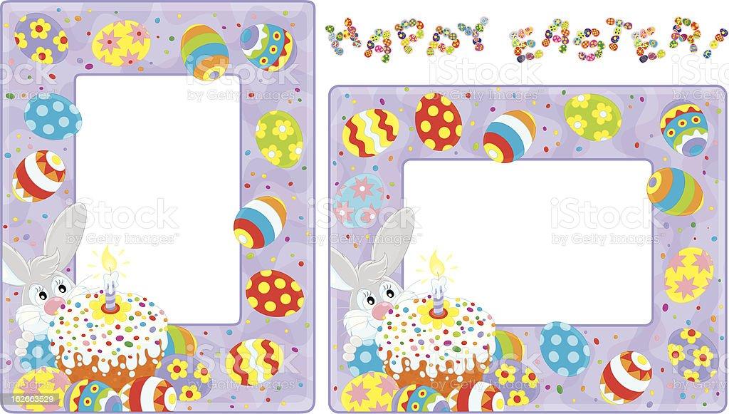 Easter borders royalty-free stock vector art