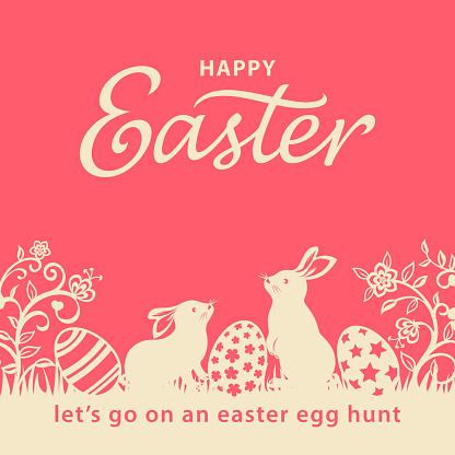 Easter Bunnies and Eggs Flyer