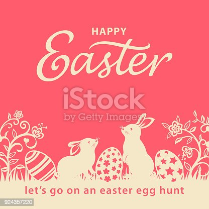 istock Easter Bunnies and Eggs Flyer 924357220