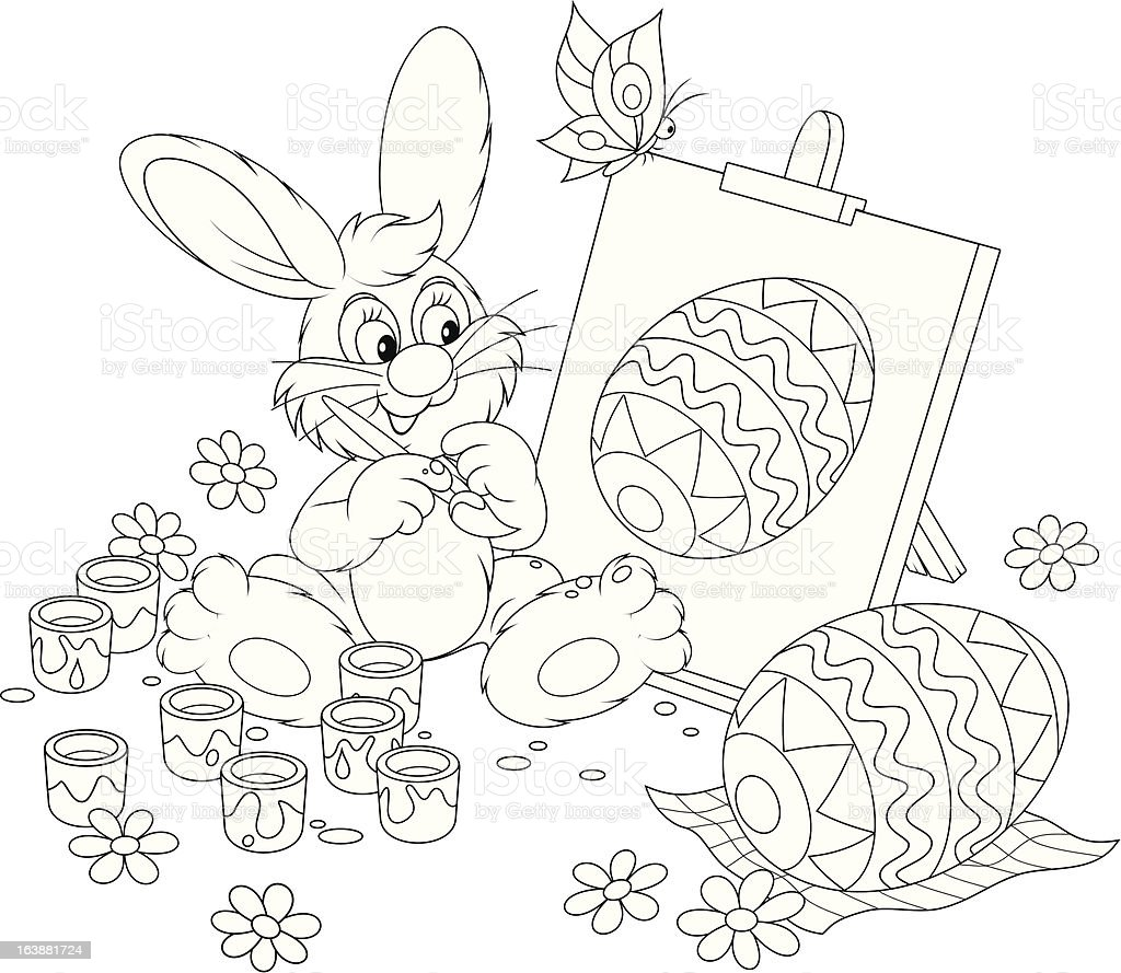 Easter Bunny artist royalty-free stock vector art