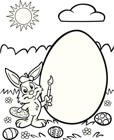 Easter Bunny Artist With Egg