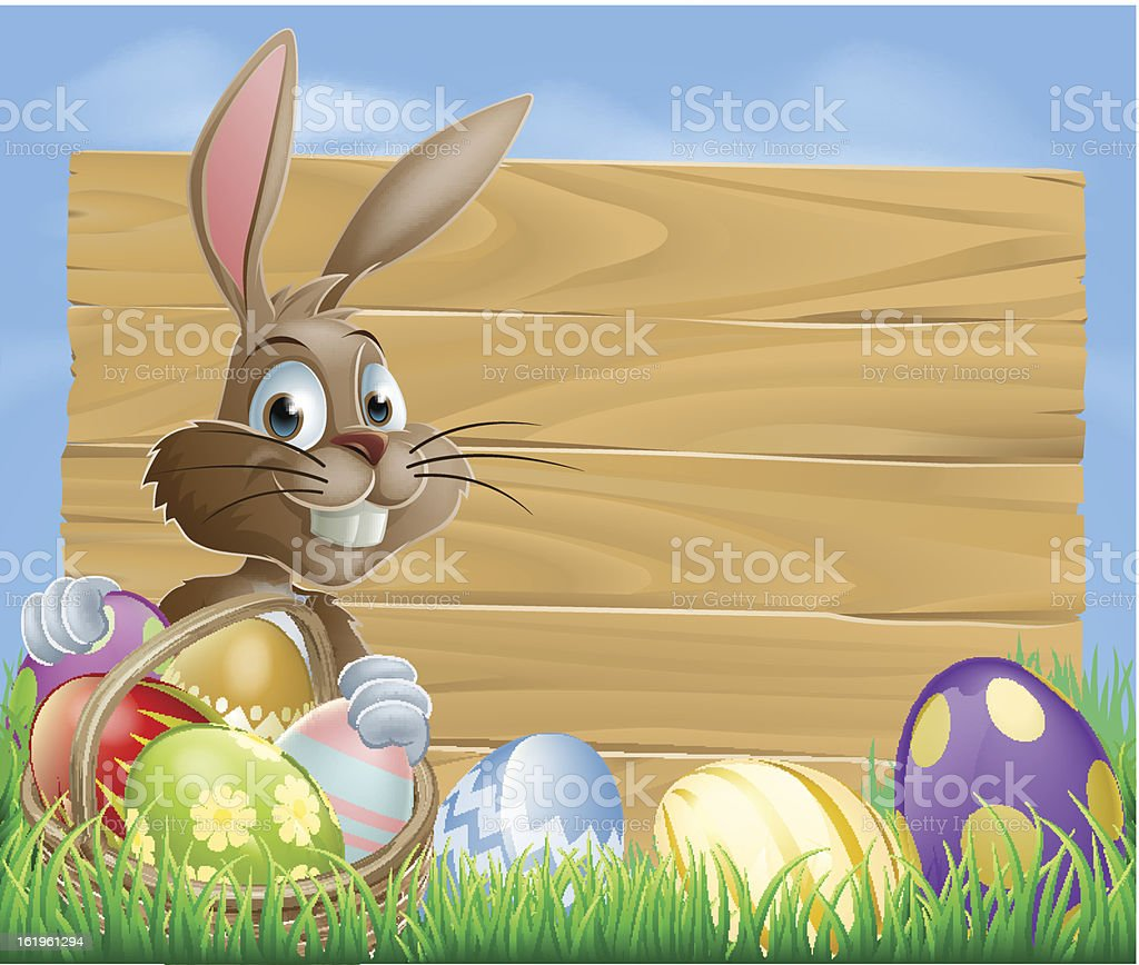 Easter bunny background sign royalty-free easter bunny background sign stock vector art & more images of animal